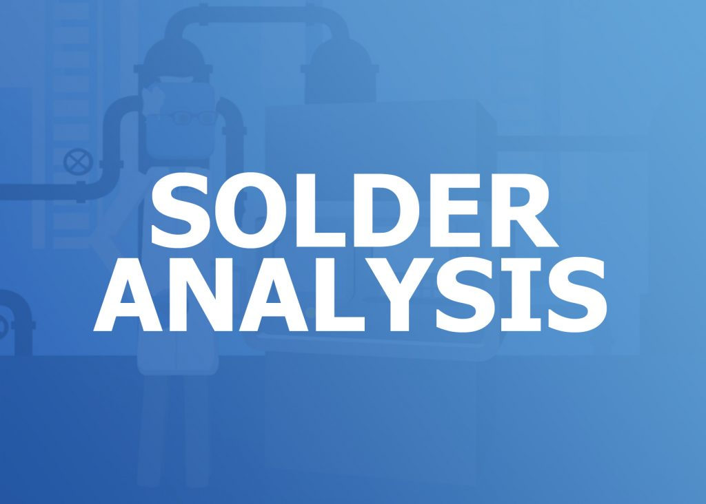 solder analysis, solder waste recycling, casting alloys